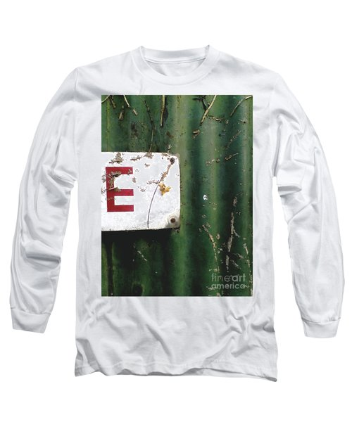 Long Sleeve T-Shirt featuring the photograph E by Rebecca Harman