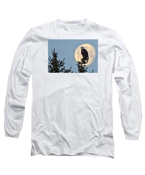 Eagle Moon Long Sleeve T-Shirt by Fiskr Larsen