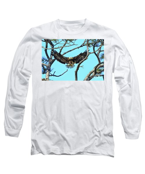 Long Sleeve T-Shirt featuring the photograph Eagle Series Wings by Deborah Benoit