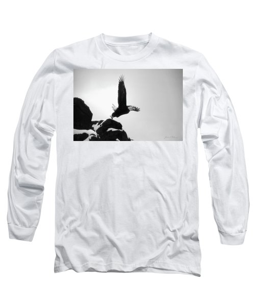 Eagle Takeoff At Adak, Alaska Long Sleeve T-Shirt