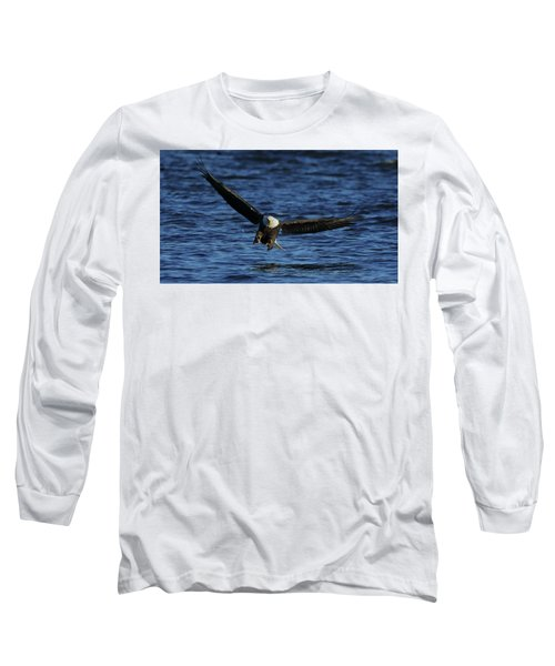 Long Sleeve T-Shirt featuring the photograph Eagle With Talons Up by Coby Cooper