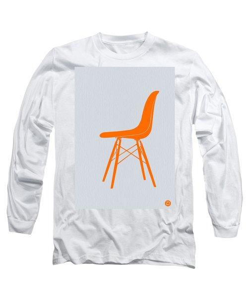 Eames Fiberglass Chair Orange Long Sleeve T-Shirt