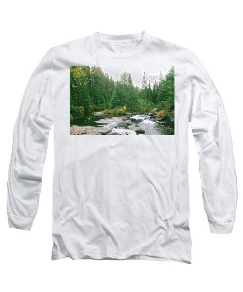 Early Autumn On The Madawaska River Long Sleeve T-Shirt