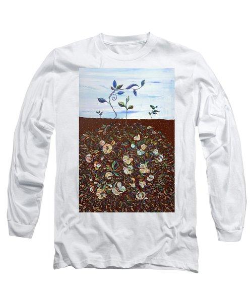 Early Cotton  Long Sleeve T-Shirt by Erika Pochybova