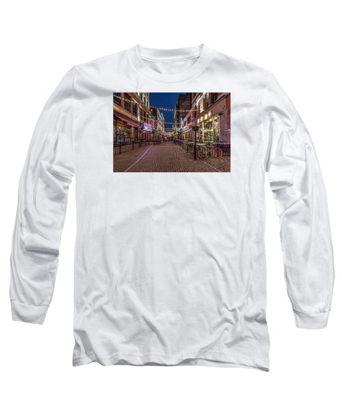 Long Sleeve T-Shirt featuring the photograph Early Evening On E. 4th by Brent Durken