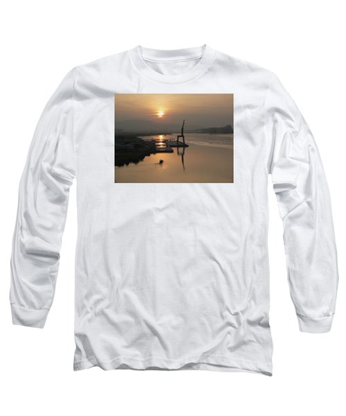 Long Sleeve T-Shirt featuring the photograph Early Hour On The River by Lucinda Walter
