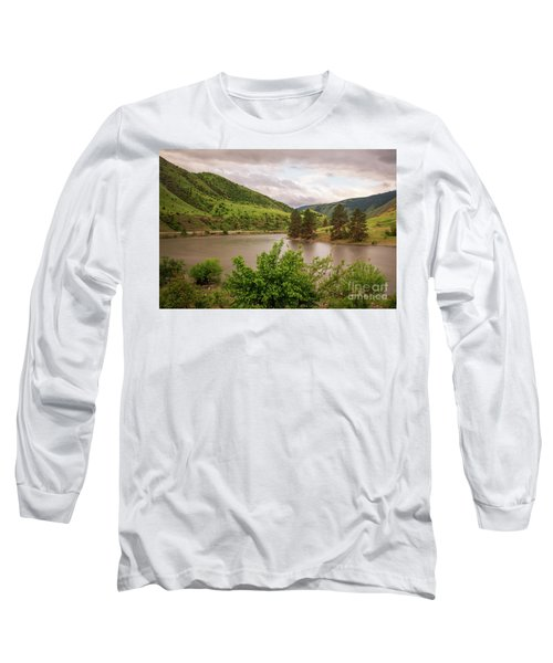 Early Morning Smoothy Waterscape Art By Kaylyn Franks  Long Sleeve T-Shirt