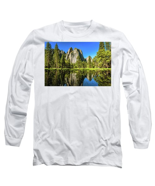 Early Morning View At Cathedral Rocks Vista Long Sleeve T-Shirt