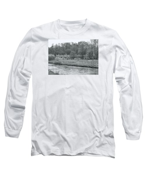 Early Spring In England Black And White Long Sleeve T-Shirt