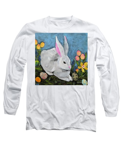 Easter Bunny  Long Sleeve T-Shirt by Reina Resto