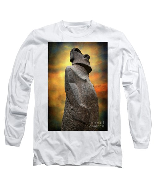 Long Sleeve T-Shirt featuring the photograph Easter Island Moai by Adrian Evans