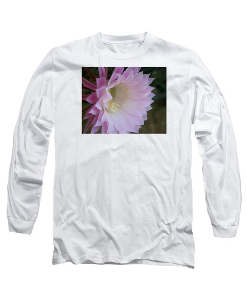 Easter Lily Cactus East 2 Long Sleeve T-Shirt by Marna Edwards Flavell