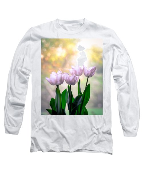 Easter Tulips Long Sleeve T-Shirt by Ronda Broatch