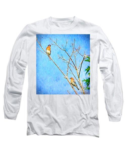 Eastern Bluebird Couple Long Sleeve T-Shirt