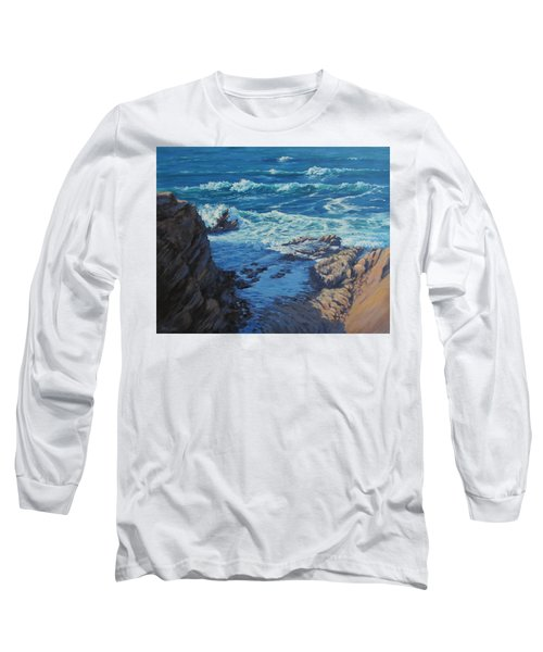 Long Sleeve T-Shirt featuring the painting Ebb And Flow by Karen Ilari