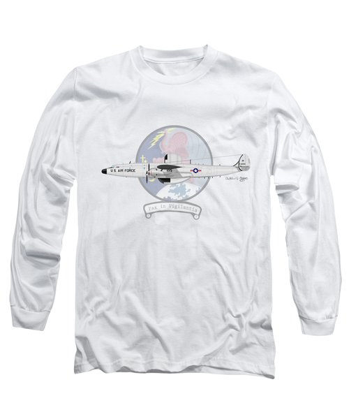 Ec-121d Super Constellation Long Sleeve T-Shirt by Arthur Eggers