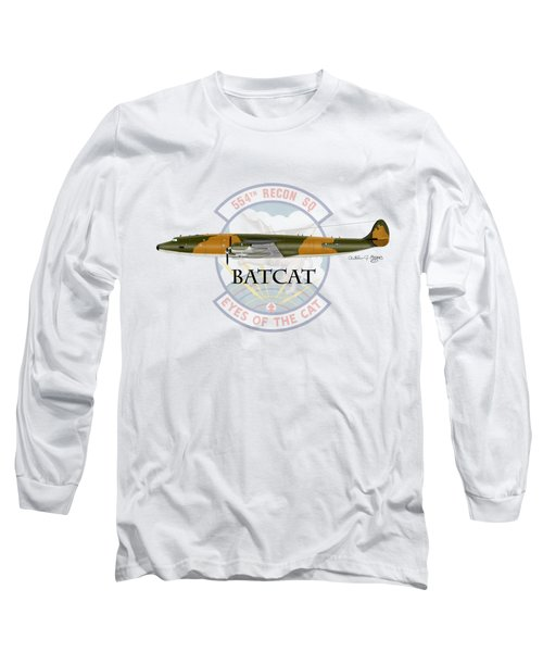 Ec-121r Batcat Long Sleeve T-Shirt by Arthur Eggers