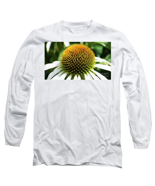 Long Sleeve T-Shirt featuring the photograph Echinacea - Head And Shoulders by Wendy Wilton