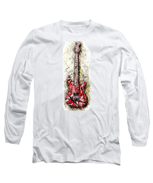 Eddie's Guitar Vert 1a Long Sleeve T-Shirt by Gary Bodnar