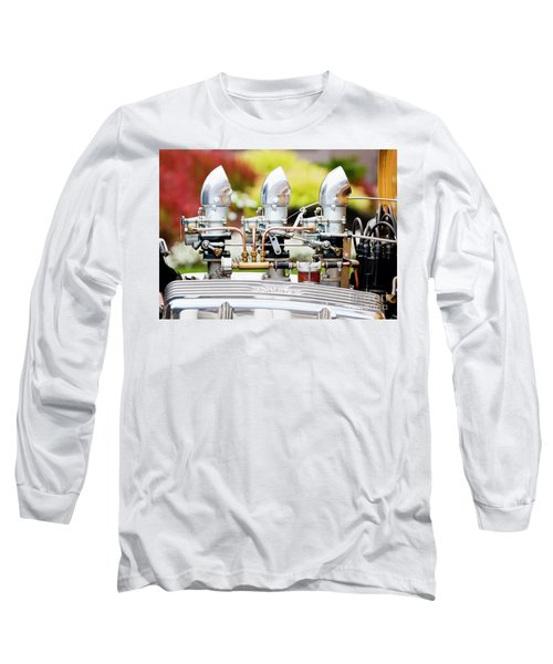 Long Sleeve T-Shirt featuring the photograph Edelbrock Side View by Chris Dutton