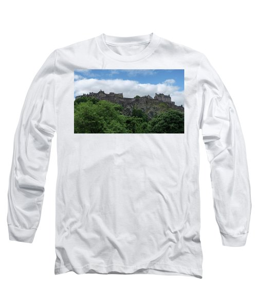 Long Sleeve T-Shirt featuring the photograph Edinburgh Castle In Scotland by Jeremy Lavender Photography