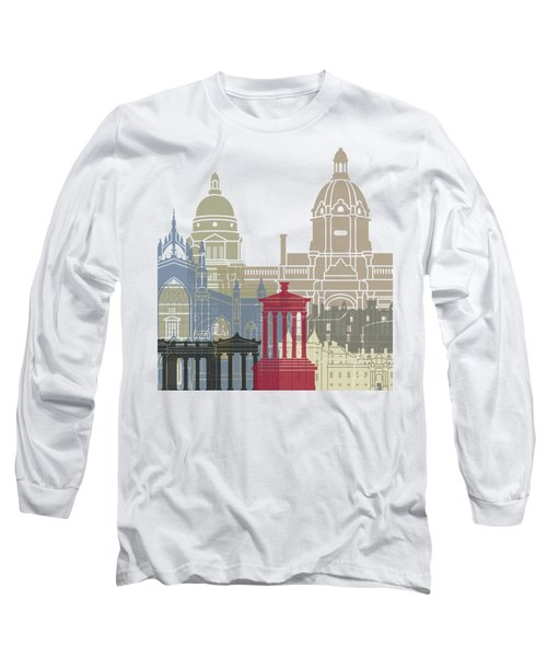 Edinburgh Skyline Poster Long Sleeve T-Shirt