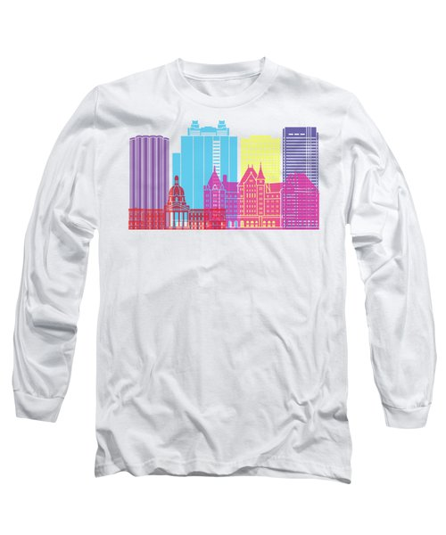 Edmonton V2 Skyline Pop Long Sleeve T-Shirt