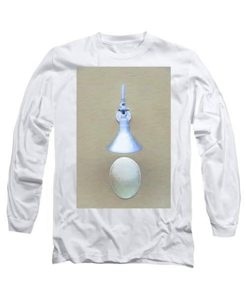 Long Sleeve T-Shirt featuring the photograph Egg Drop Lamp by Gary Slawsky