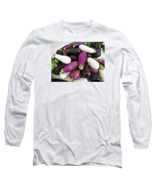 Eggplant Varieties Long Sleeve T-Shirt by Dee Flouton