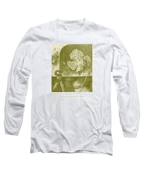 Long Sleeve T-Shirt featuring the drawing Eggs Hatch Having Been Eaten By A Snake by David Davies