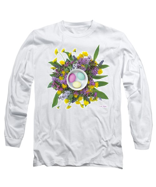 Long Sleeve T-Shirt featuring the digital art Eggs In A Bowl by Lise Winne