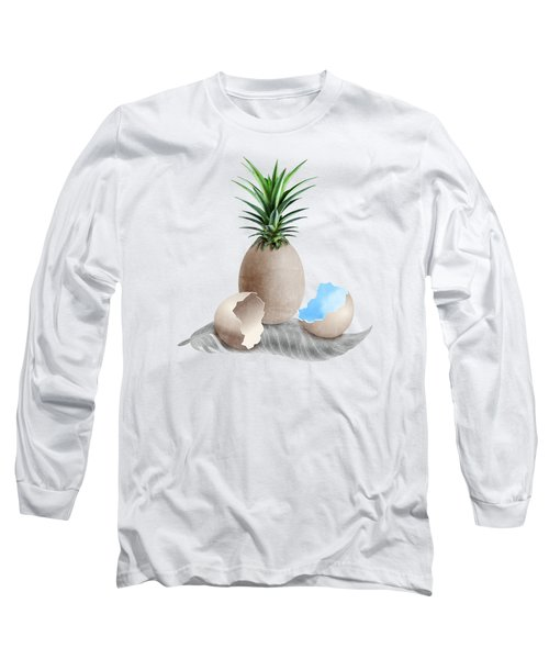 Eggs On A Feather Long Sleeve T-Shirt