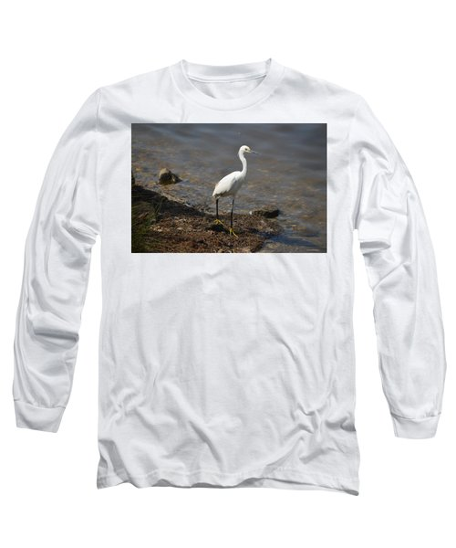 Egret 1 Long Sleeve T-Shirt by Gordon Mooneyhan