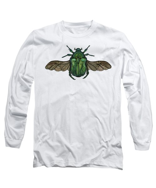Egyptian Scarab Long Sleeve T-Shirt