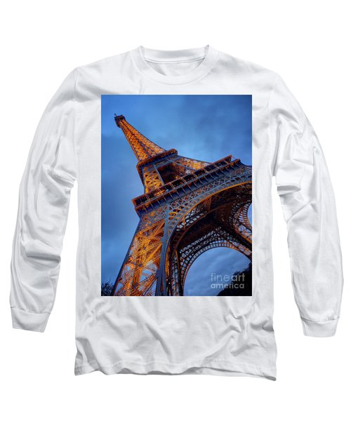 Eiffel Dressed In Gold Long Sleeve T-Shirt