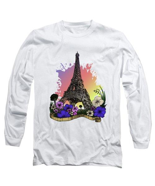 Eiffel Tower Long Sleeve T-Shirt by Adam Santana