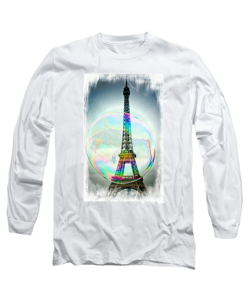 Eiffel Tower Bubble Long Sleeve T-Shirt