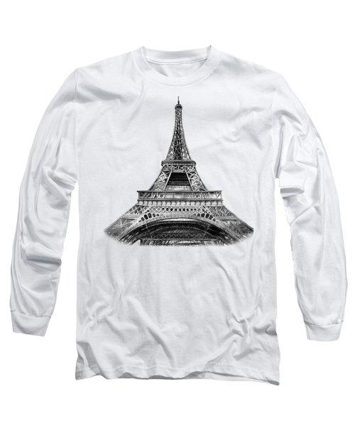 Eiffel Tower Design Long Sleeve T-Shirt