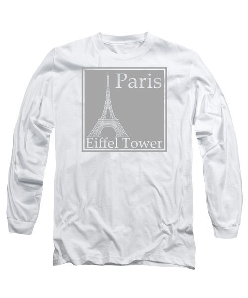 Eiffel Tower In Gray Long Sleeve T-Shirt by Custom Home Fashions