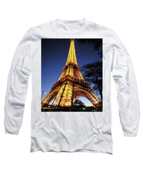 Eiffel Tower Long Sleeve T-Shirt by Jim Mathis