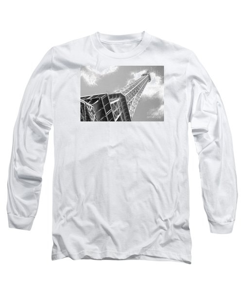 Eiffel Tower Sketch  Long Sleeve T-Shirt by Jim  Hatch