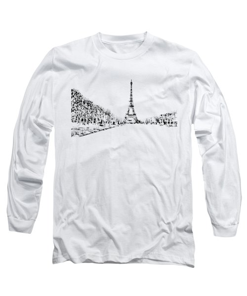 Eiffel Tower Long Sleeve T-Shirt by ISAW Gallery