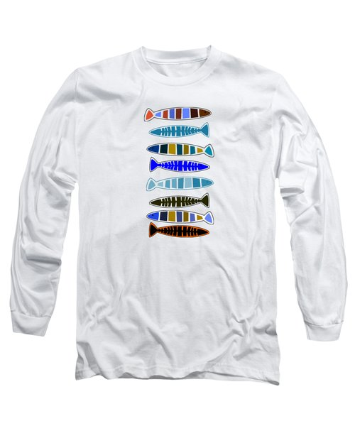 Eight Fish In A Row Long Sleeve T-Shirt