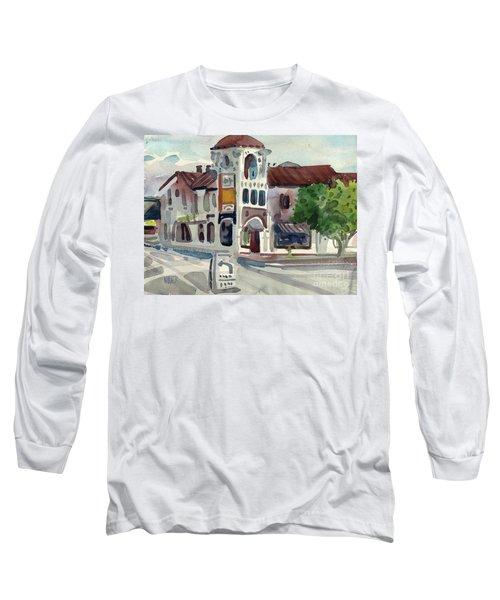 El Camino Real In San Carlos Long Sleeve T-Shirt by Donald Maier