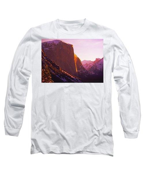 El Capitan And Half Dome, Yosemite N.p. Long Sleeve T-Shirt