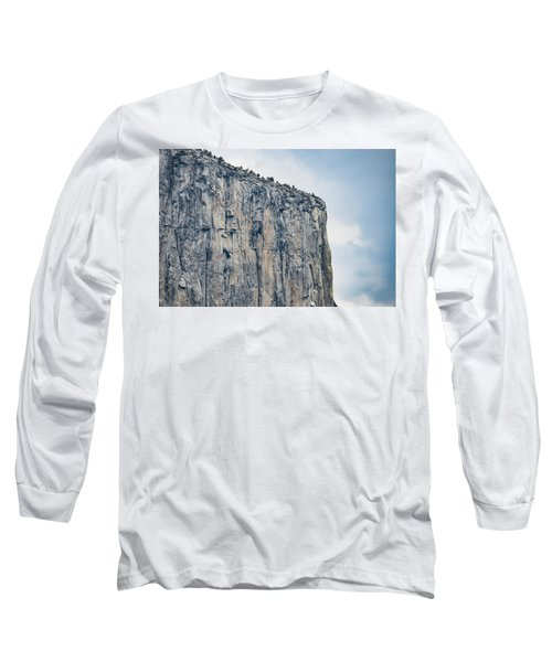 El Capitan Up Close And Personal From Tunnel View Yosemite Np Long Sleeve T-Shirt
