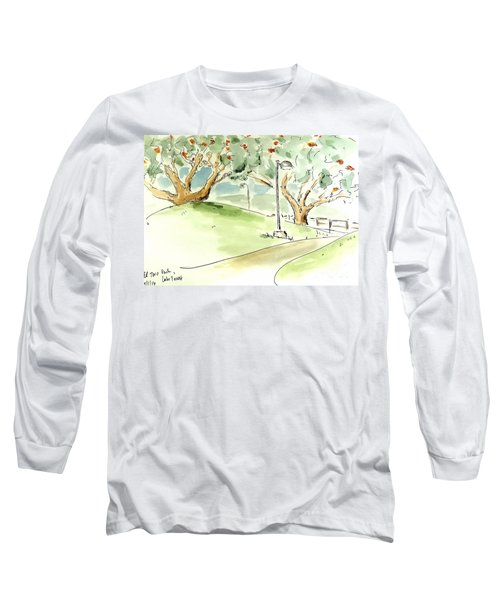 Long Sleeve T-Shirt featuring the painting El Toro Park by Maria Langgle