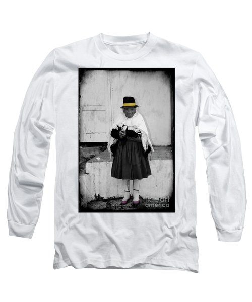 Elderly Beggar In Biblian Long Sleeve T-Shirt