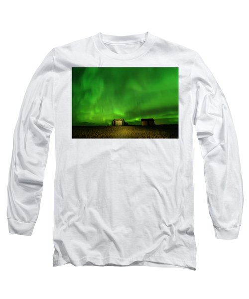 Electric Green Skies Long Sleeve T-Shirt