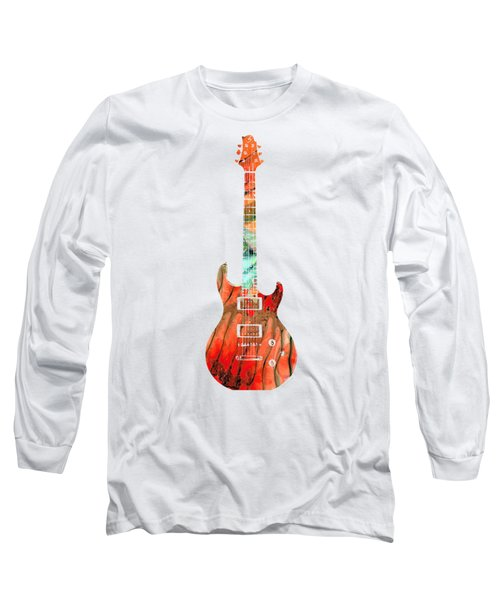 Electric Guitar 2 - Buy Colorful Abstract Musical Instrument Long Sleeve T-Shirt